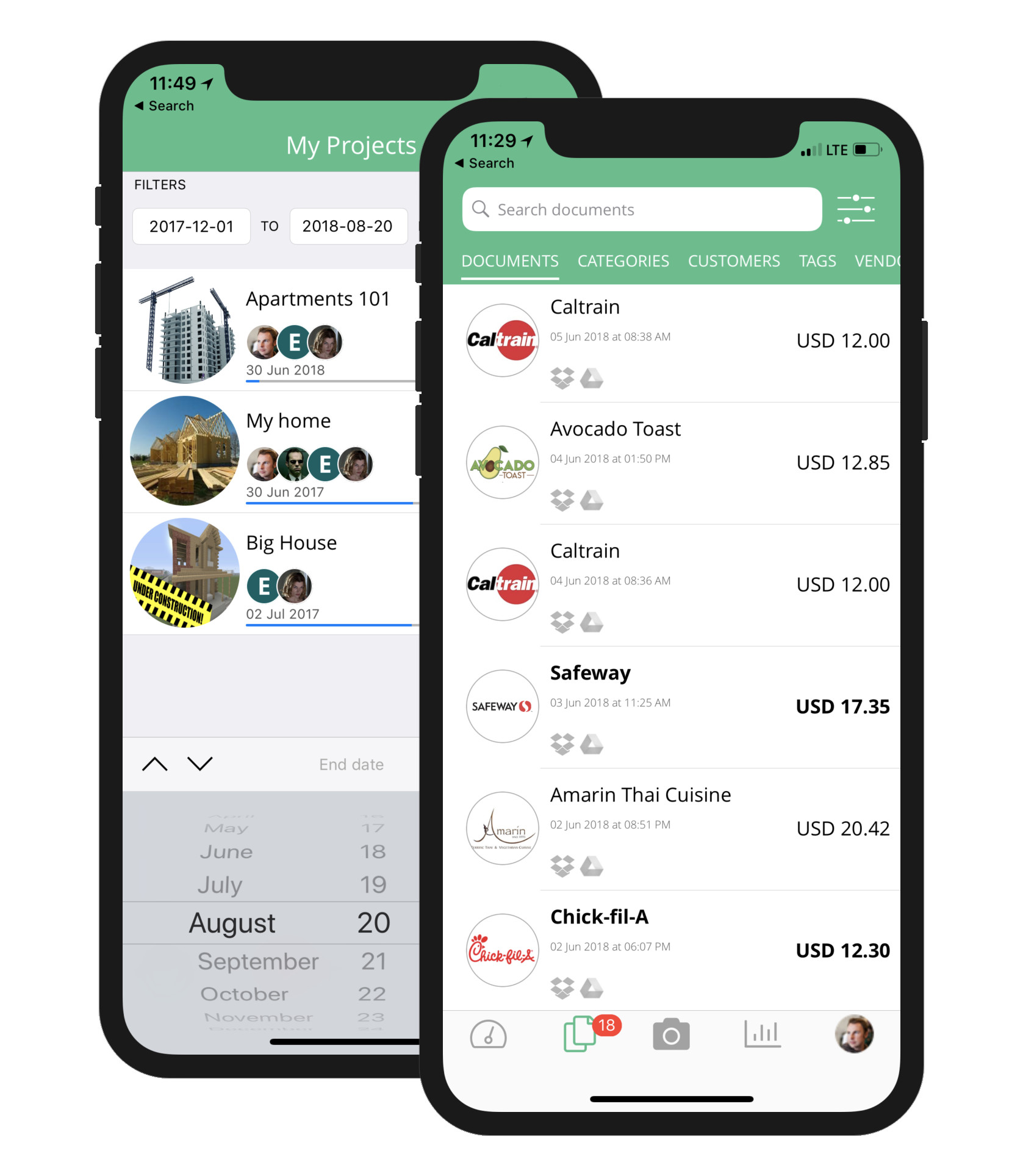 Veryfi Core app: expense, receipts & projects manager